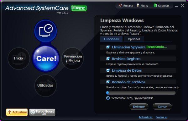 Advanced SystemCare - Interfaz