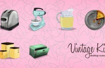 Vintage Kitchen - Colección de iconos de artefactos de cocinas antiguas para descargar gratis