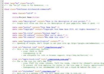 HTML5 Reset - código
