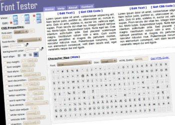 Font Tester - servicio online para probar tipografías