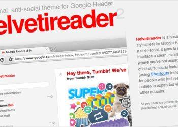 Helvetireader - Template para Google Reader (Greasemonkey script)