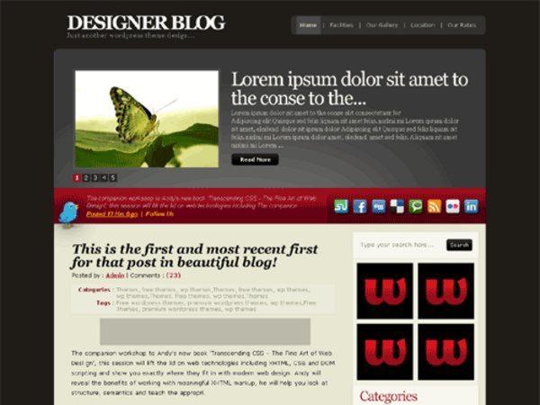 RedSteel-free-WordPress-theme
