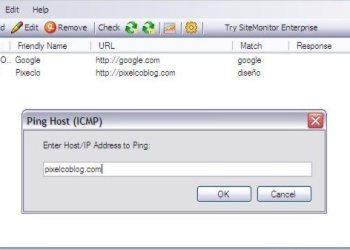 SiteMonitor Free Interfaz