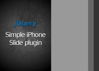 jQuery Simple iPhone Slide plugin