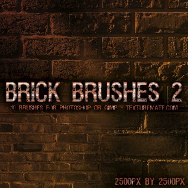 Brick Brushes 2 -pinceles para Photoshop y GIMP