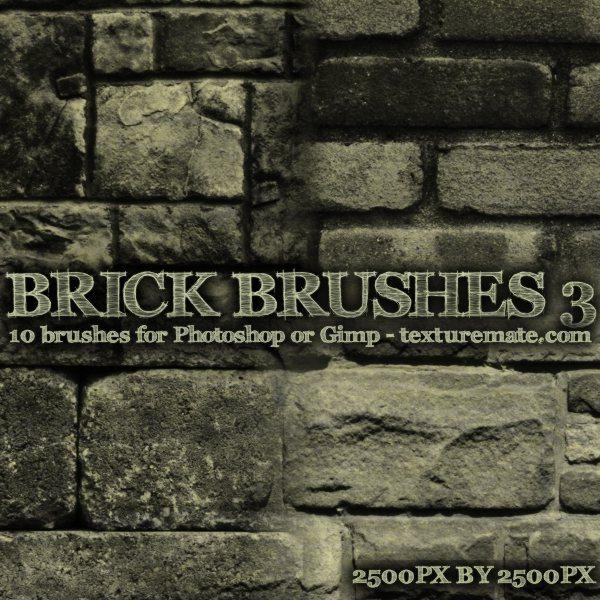 Brick Brushes 3 - pinceles para Photoshop