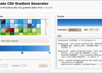 Ultimate CSS Gradient Generator - servicio web
