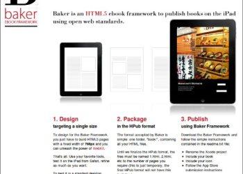 Baker - framework HTML5 para crear ebooks para el iPad de Apple