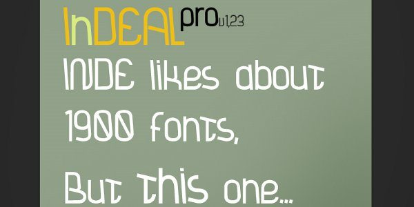InDeal Free font
