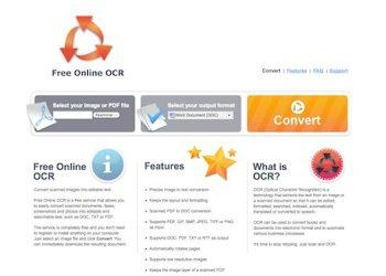 Free Online OCR - Interfaz web