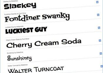 Google Font Directory - Tipografías web