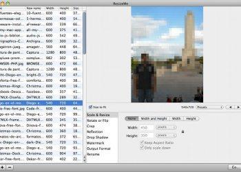 ResizeMe - Aplicación para Mac para porcesar lotes de imágenes