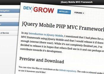 jQuery Mobile PHP MVC Framework - Framework para desarrollo web para dispositivos móviles