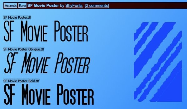 SF Movie Poster - free font