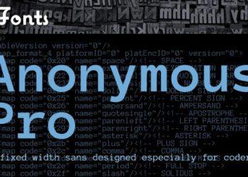 Anonymous Pro - free font