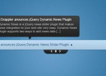 Dynamic News jQuery news slider plugin