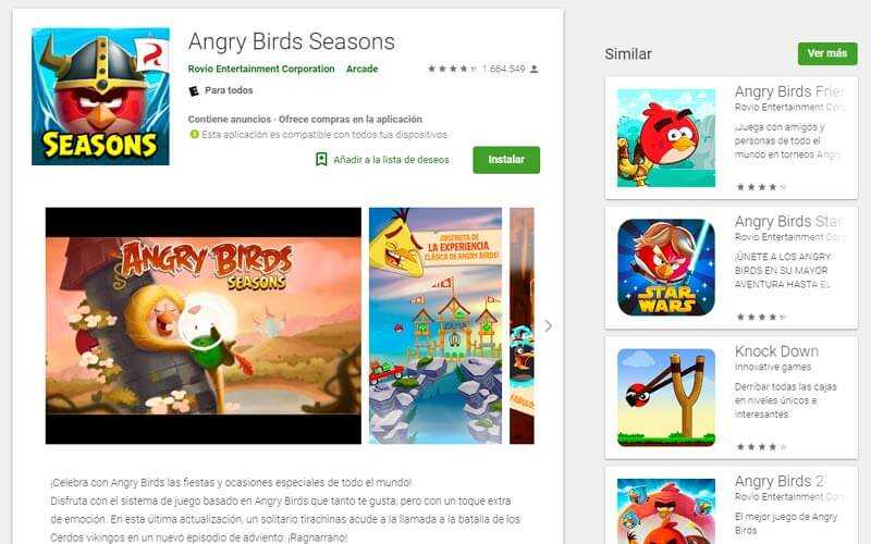 Angry Birds Seasons - Android Play