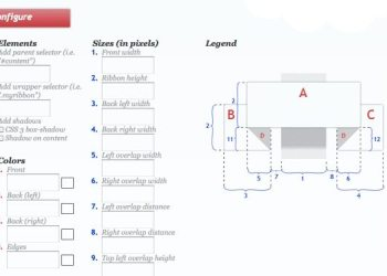 3D Ribbon Generator servicio online