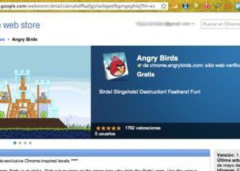 Angry Birds aplicación para Chrome Web Store