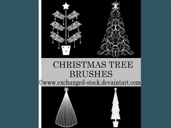 Christmas Trees - Brushes Photoshop