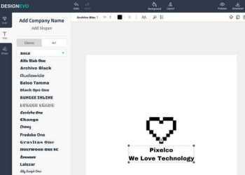 DesignEvo - Editor online gratuito para diseñar logos