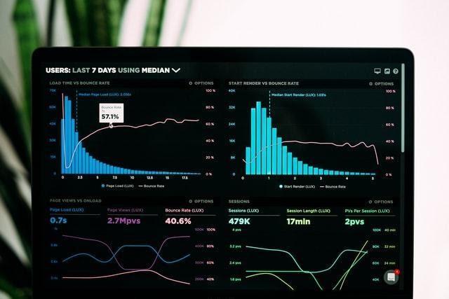 Gráficas de barras que señalan datos