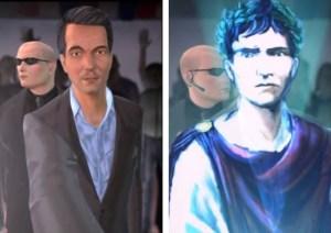 Abb. 4: Der Senator links, der imaginäre Archetyp Augustus rechts.