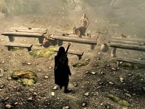 Skyrim: Kampfsituation (Fallbeispiel 1, Bild 1)