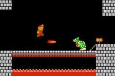 """Ein wiederkehrender Bosskampf in """"Super Mario Bros""""."""