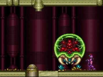 """Die Metroids sind eine parasitäre Alienrasse aus der gleichnamigen Metroid-Reihe von Nintendo (hier: """"Super Metroid"""" auf dem Super Nintendo)."""