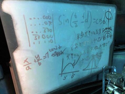 Whiteboards mit Formeln...