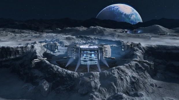 Cratere lunare dentro cui si trova il Moon Hotel.