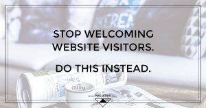 website welcome message