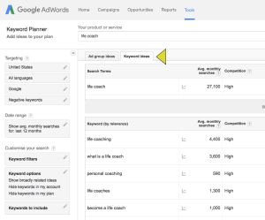 blog post ideas google keyword planner