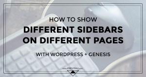 genesis simple sidebars