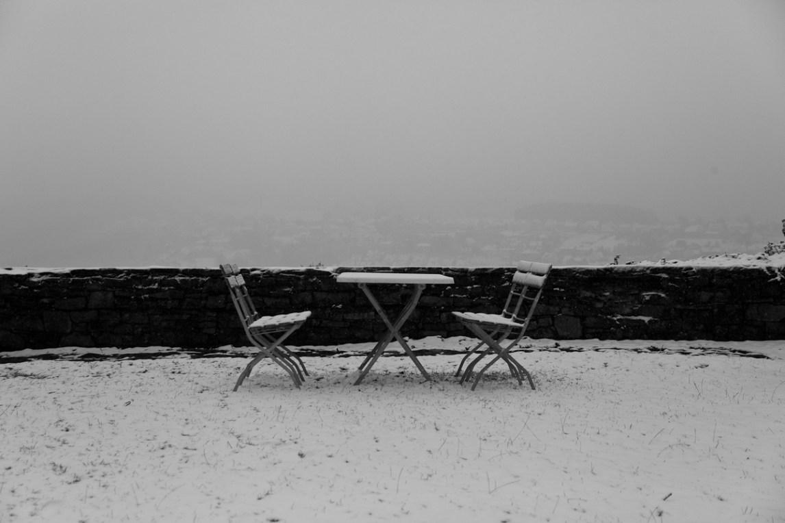 Burg Vlotho im Schnee