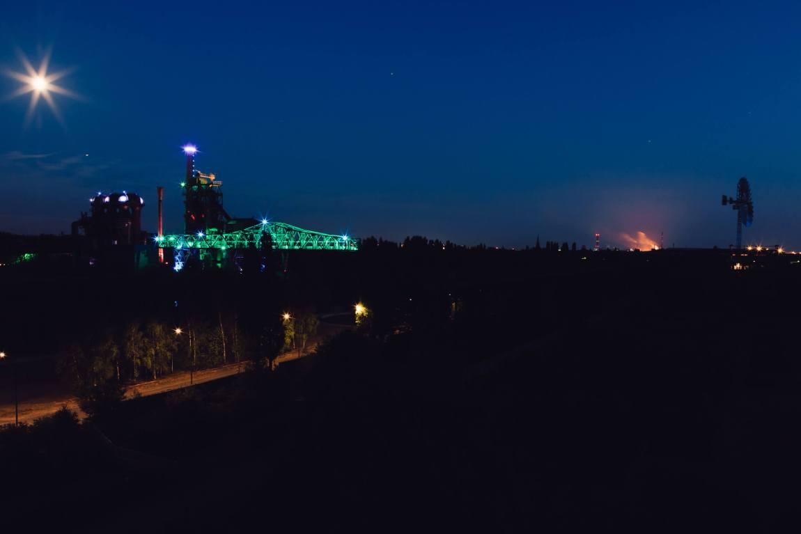 Landschaftspark Duisburg-Nord zur blauen Stunde
