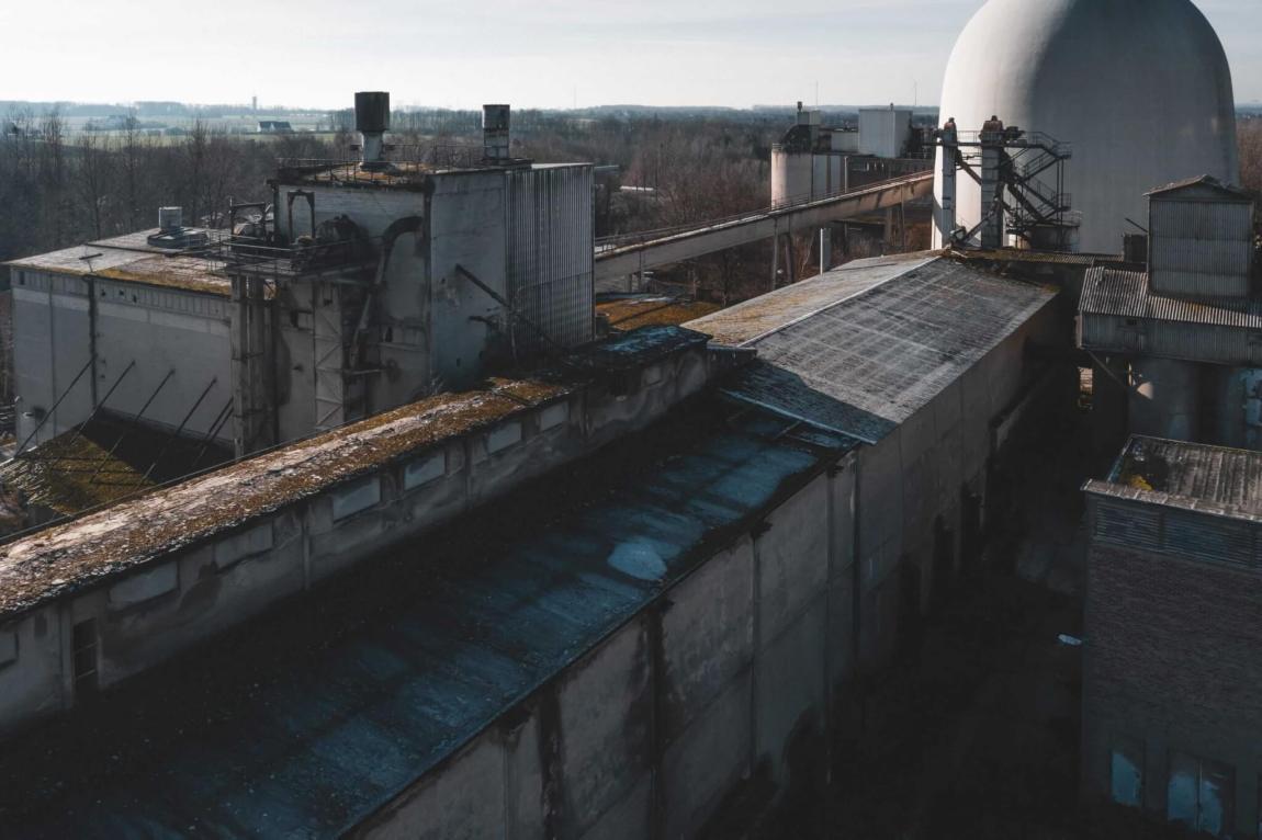 Das alte Zementwerk im Beckumer Zementrevier