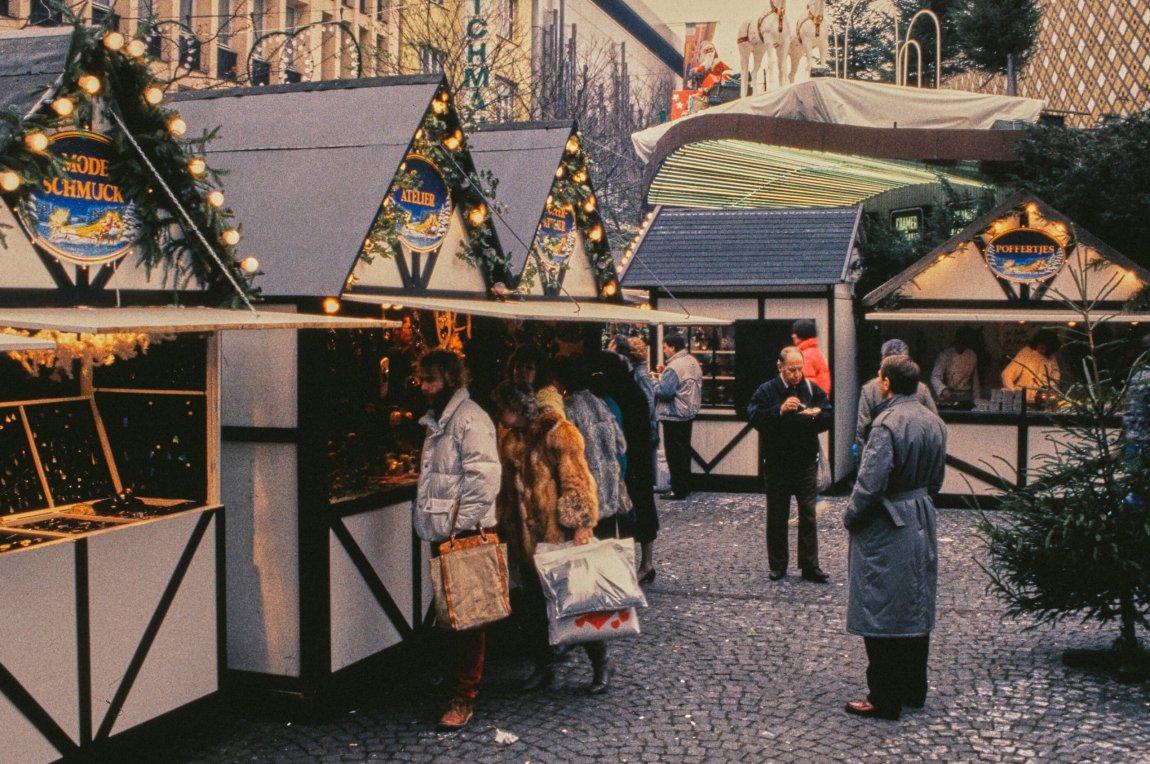 Von früher: Weihnachtsmarkt in Wuppertal 1986