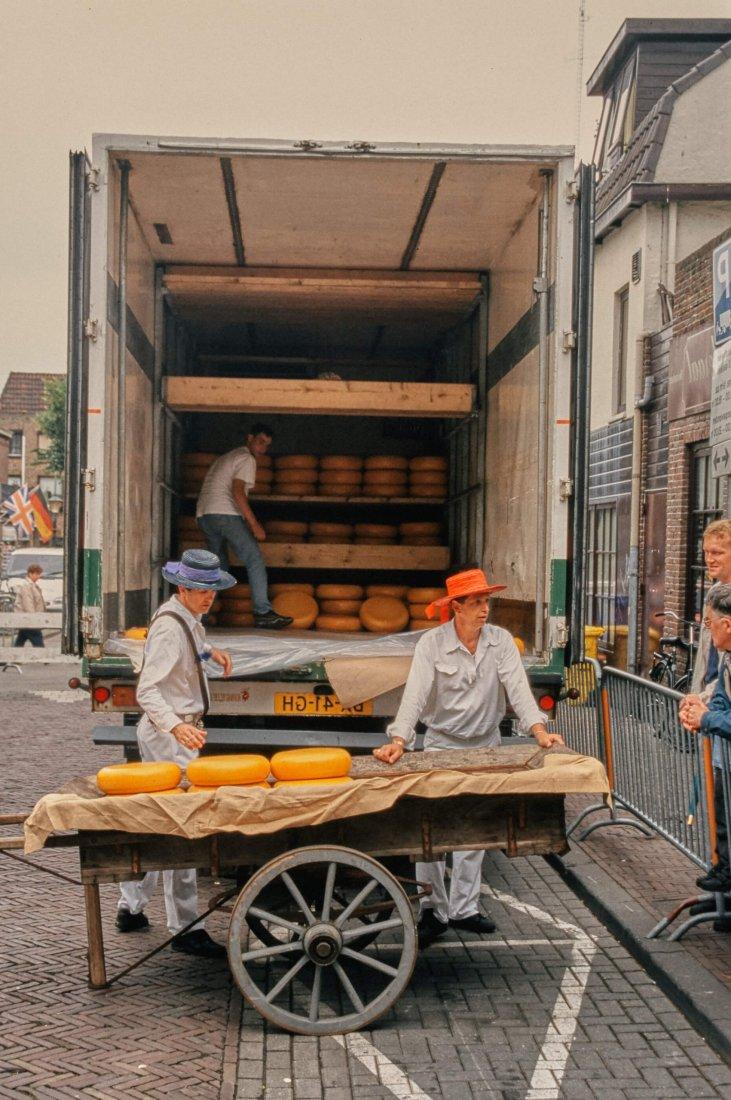 Von früher: Käsemarkt im Sommer 1993