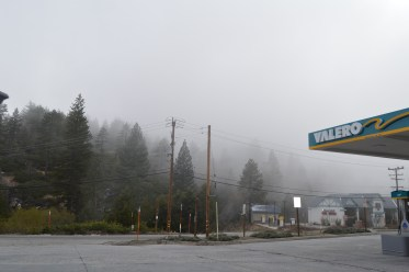 Foggy drive towards Big Bear in the middle of May.