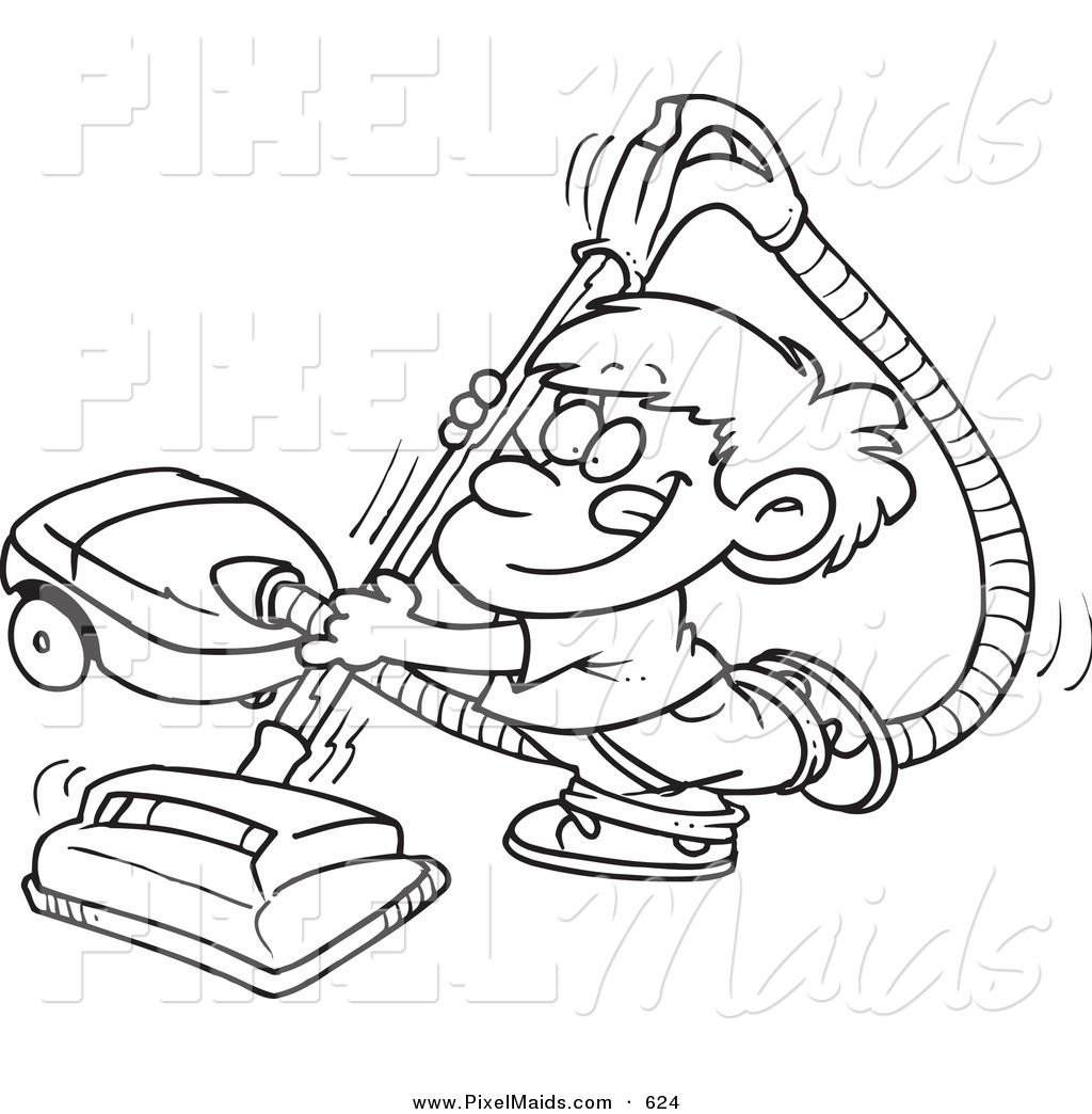 Clipart Of A Black And White Outline Art Design Of A Happy