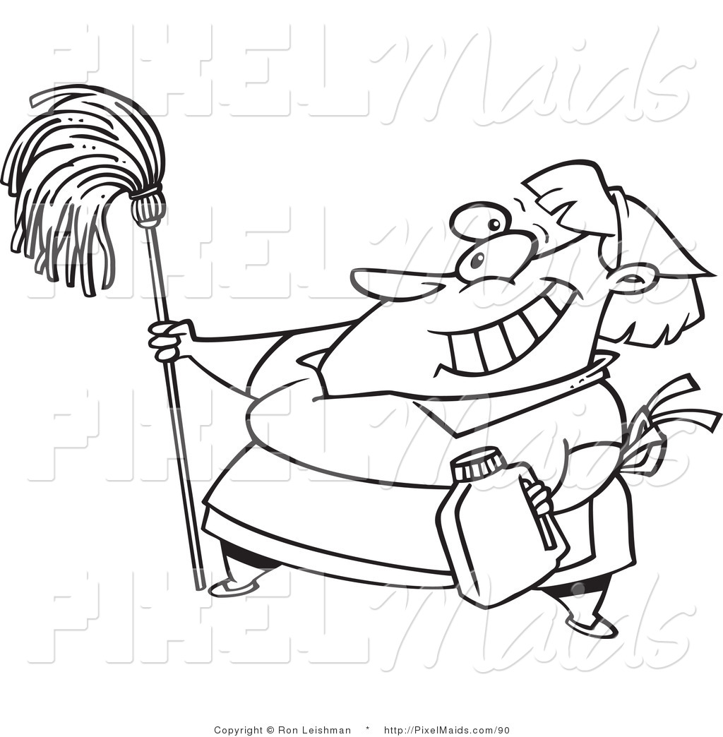 cartoon mop and bucket