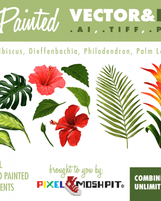 Pixel-Moshpit-Hand-Painted-Tropical-Flora2