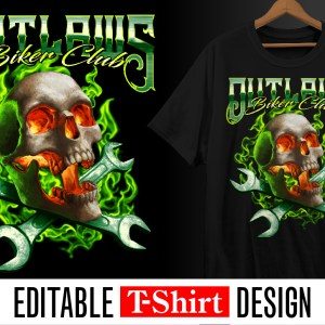 biker, motorcycle, bike week, skull, fire, burning, wrenches, bike week, outlaws