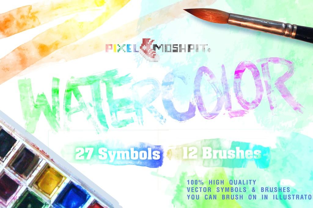 watercolor, watercolors, illustrator, vector