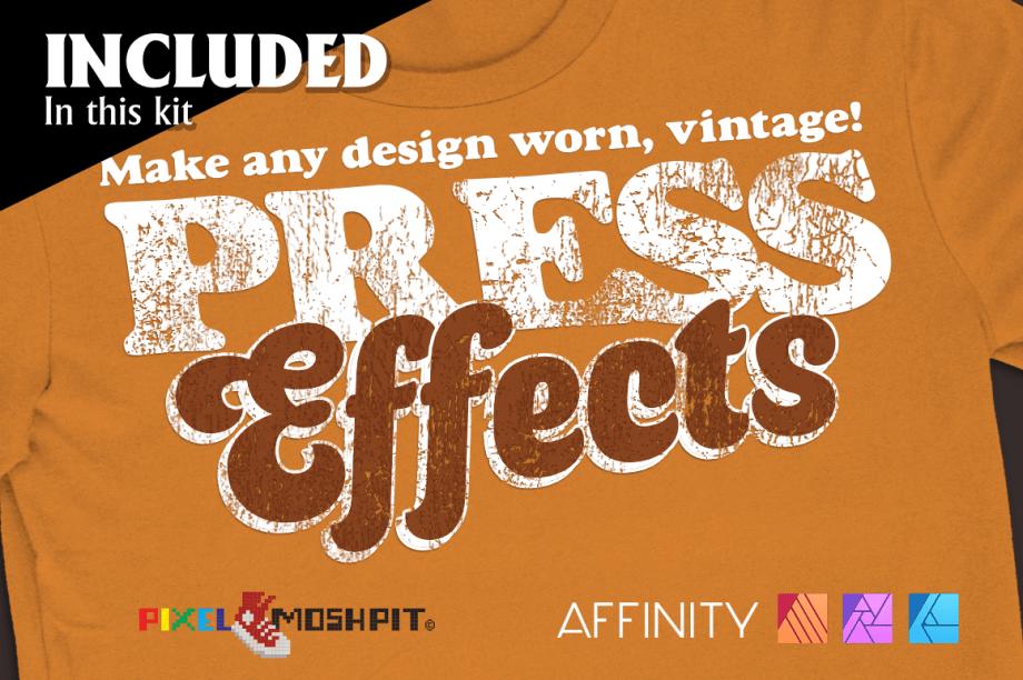 bootleg, vintage bootleg, bootleg kit, process separations, cmyk, 4 color process, affinity designer, affinity, affinity photo, affinity publisher, press effects