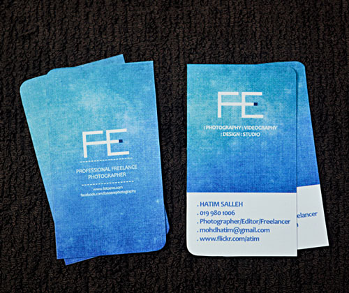 FE Photography Business Card