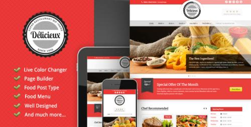 11_Delicieux - Restaurant WordPress Theme
