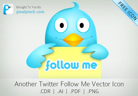 TwitterFollowMe Vector Icon